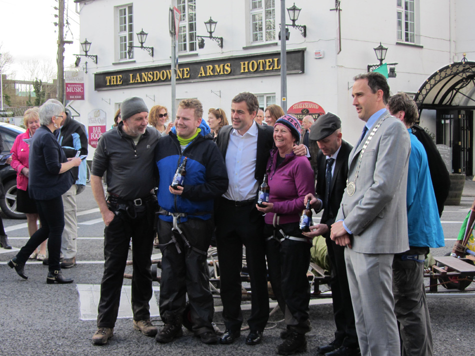 Team Tom Crean after arrival in Kenmare