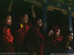 """The Youngsters."" Bhutanese monastery, November 2003."