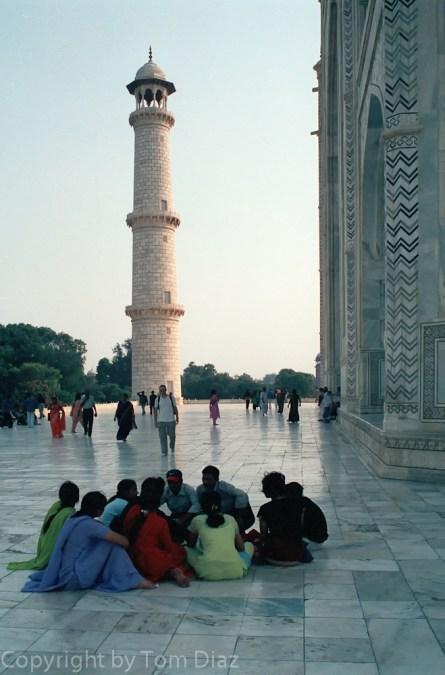 """""""The Tourists."""" Taj Mahal, November 2003."""