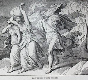 Lot flees from Sodom