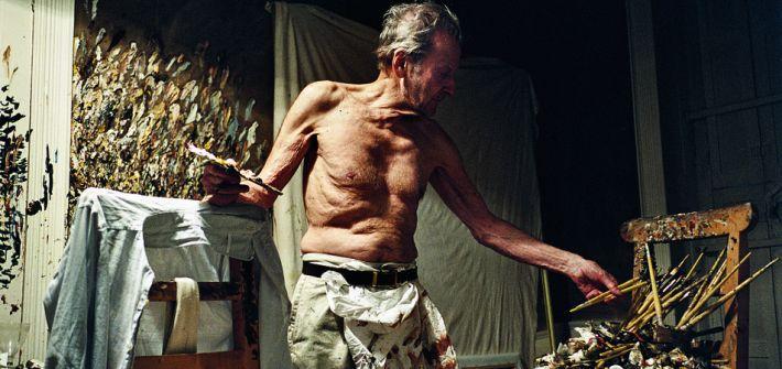 """Lucian Freud Working at Night"" by David Dawson, courtesy of Hazlitt Holland-Hibbert Gallery"