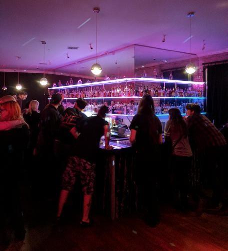The glitzy bar at the Union Nightclub in Los Angeles, CA.