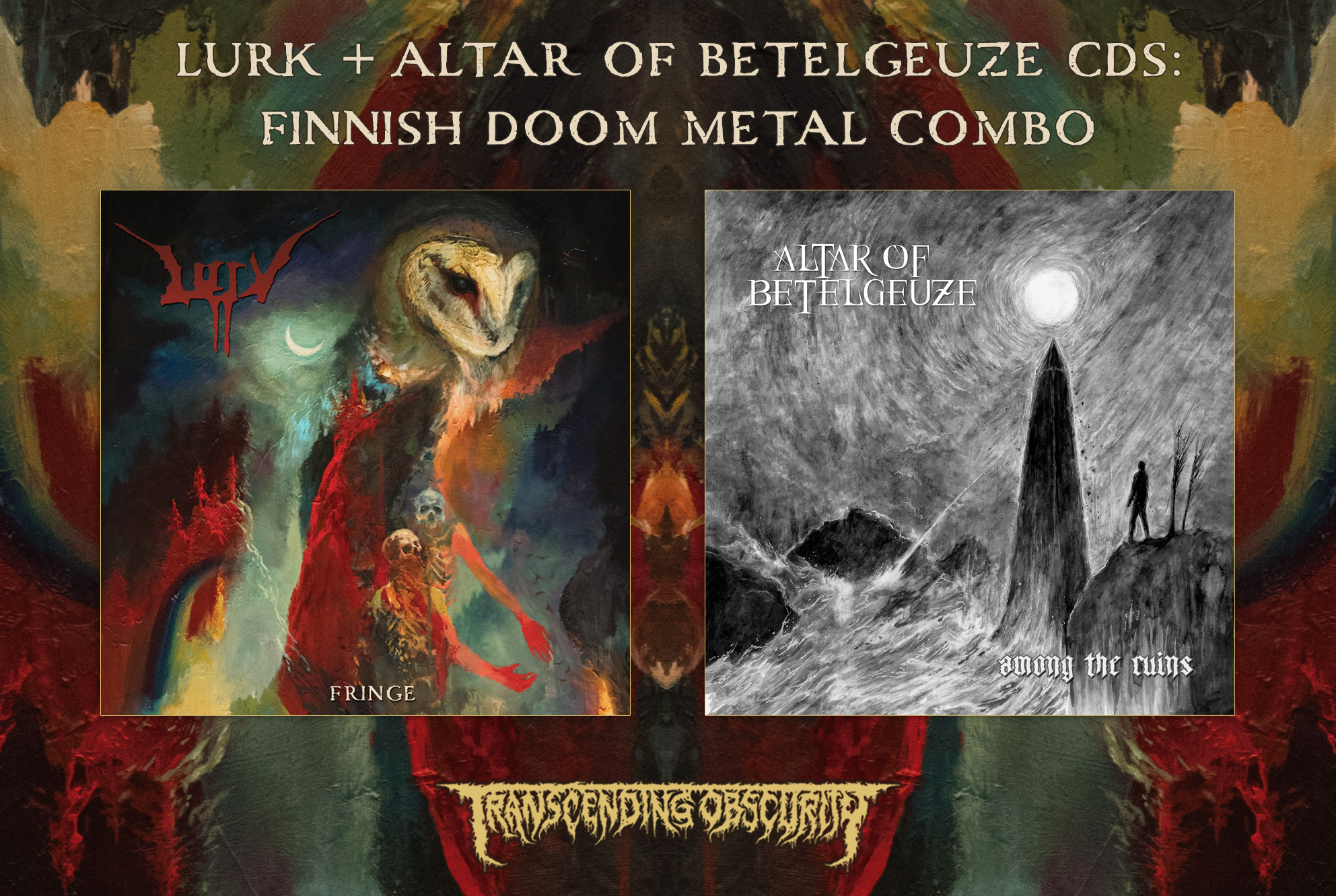 LURK + ALTAR OF BETELGEUZE - Finnish Doom Metal Special - TRANSCENDING  OBSCURITY