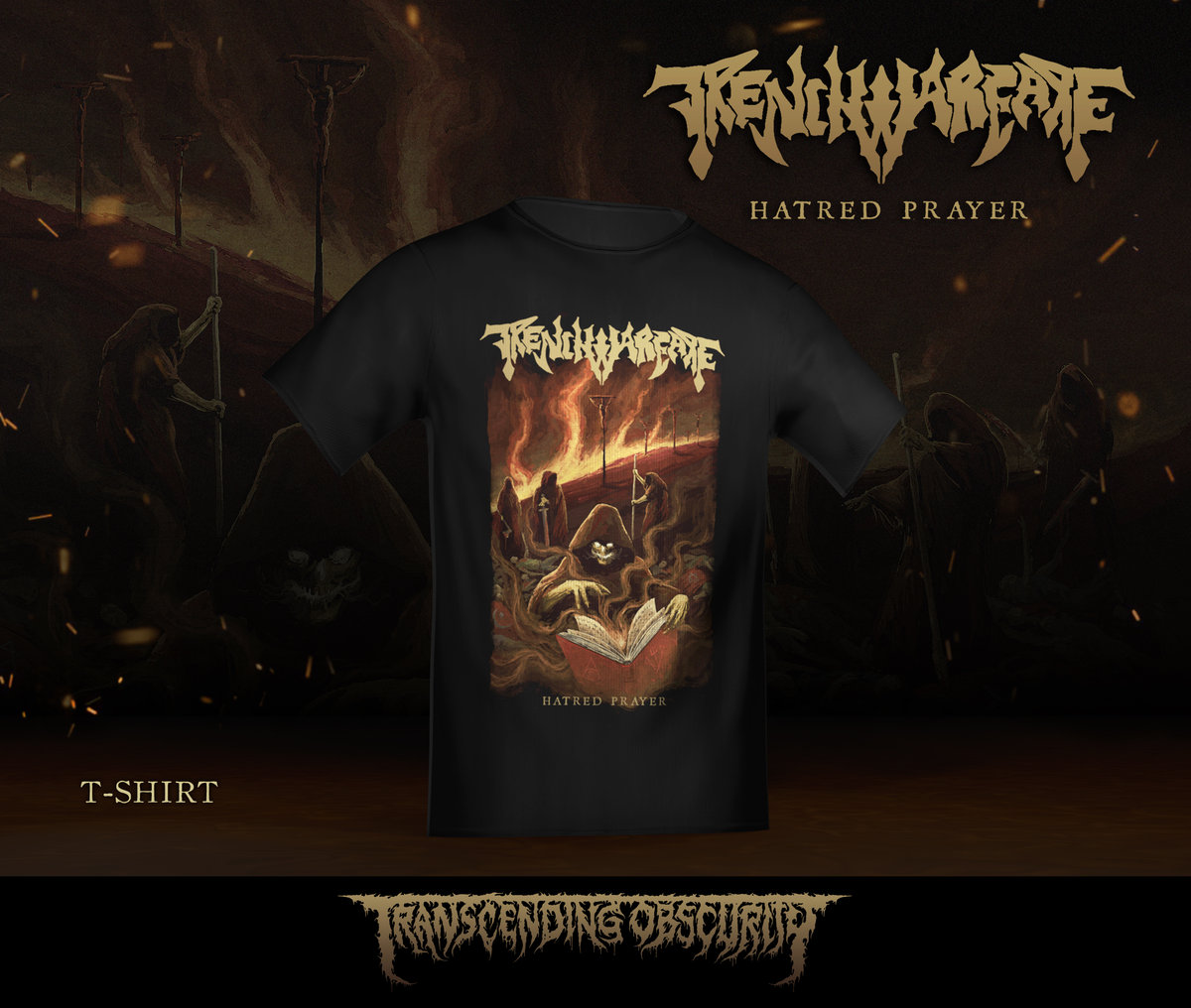 a8a8556fb1c9 TRENCH WARFARE – Hatred Warfare (Black / Death Metal) Album Artwork T-shirt  (Limited to 30) + Digital Download