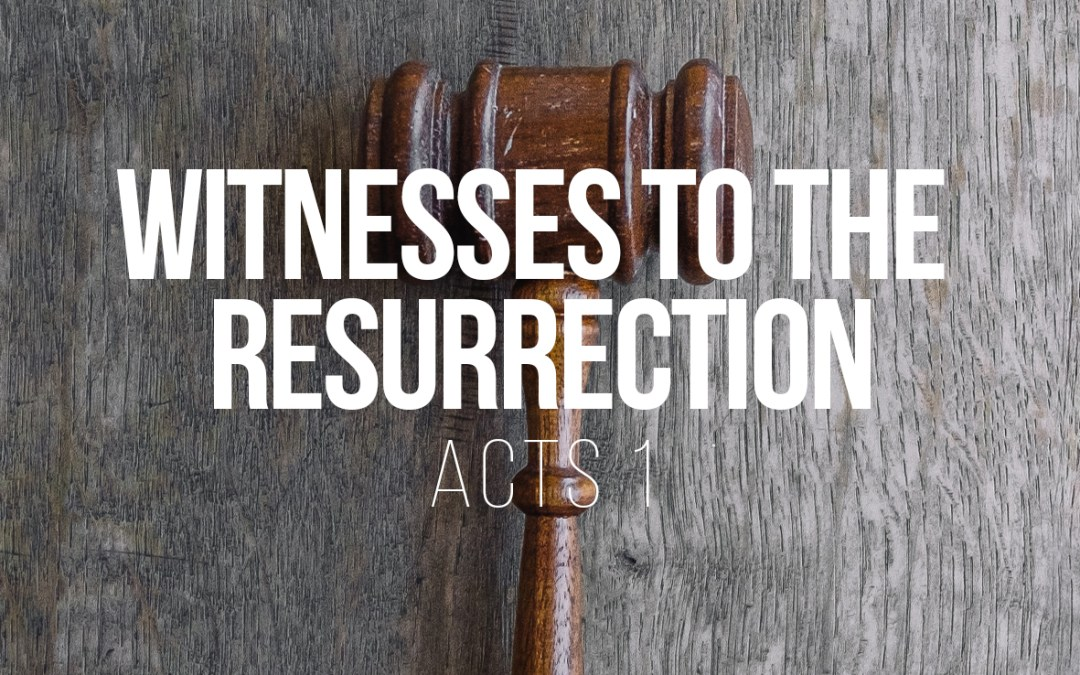 Witnesses to the Resurrection – Acts 1