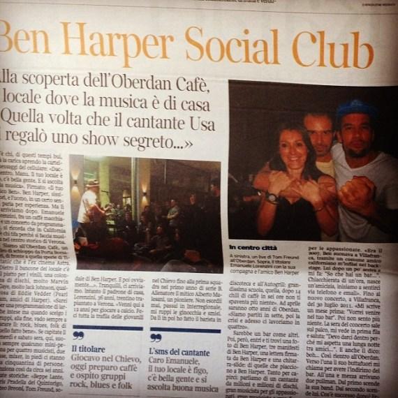 #today #great #news in the #verona 's #newspaper  #benharper #tomfreund #oberdancafe