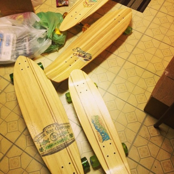 Sexy #sector9 boards arrived for you Pledgers @pledgemusic Excited to take for a spin before sending to you if that's alright?!! Happy continued holidays! T