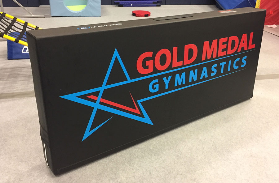 gold medal gymnastics black hedge wall mat by mancino