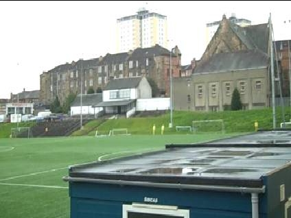 The world's oldest football stand at Lesser Hampden
