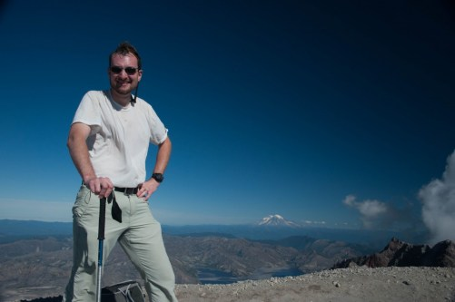 At the top of Mt. St. Helens - National Volcanic Monument - Gifford Pinchot National Forest