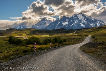 Road in Torres del Paine National Park