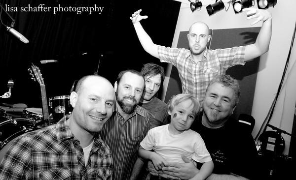 the band with our fifth beatle at chaplins..