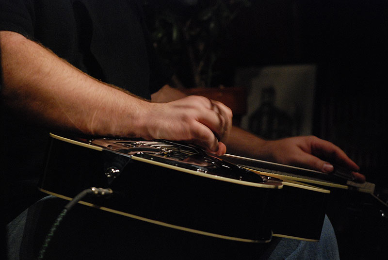 on dobro with CB at landhaven