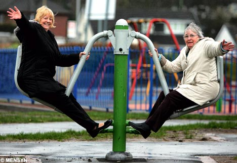Re-tooling Outdoor Playgrounds for Older Citizens