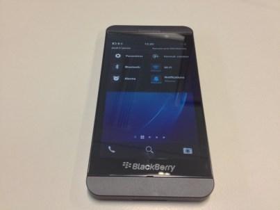 Blackberry Z10 zone paramètre