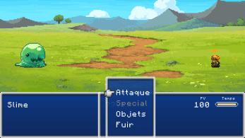 Evoland combat 2D 16 bits