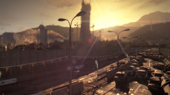 Dying light soleil couchant sur la ville