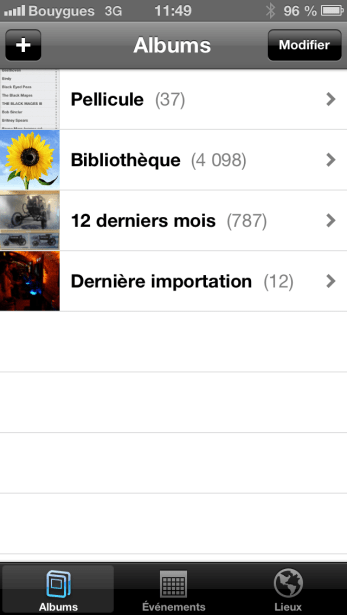 iOS 6 Menu photos