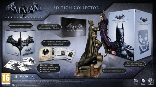 Contenu Batman: Arkham Origins collector