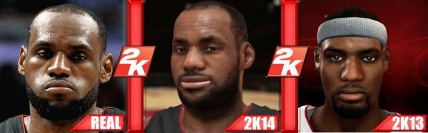 Comparatif NBA 2K14 versus 2K13 versus REAL