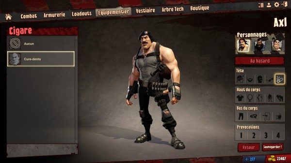 Loadout customisation personnage