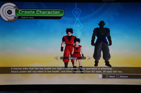 Dragon Ball Xenoverse Choix race