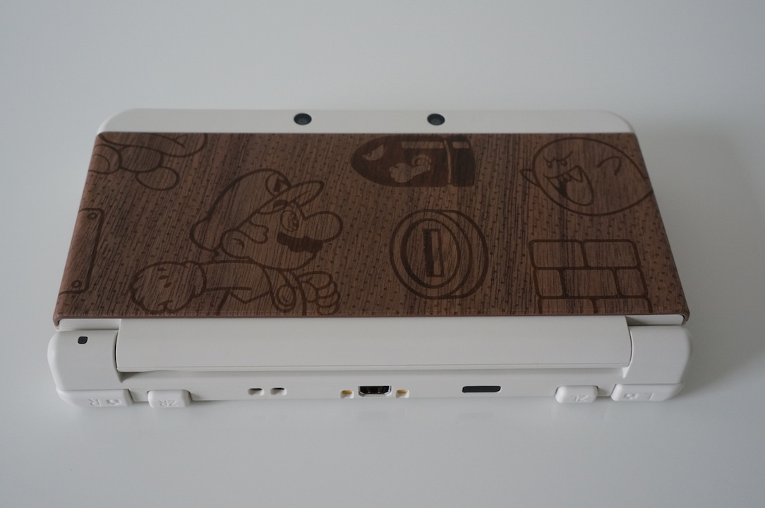 New 3DS Cover Plate bois avant