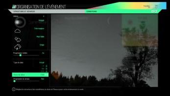 Paramétrage météo à la demande