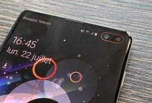 Samsung S10+ double capteurs frontaux