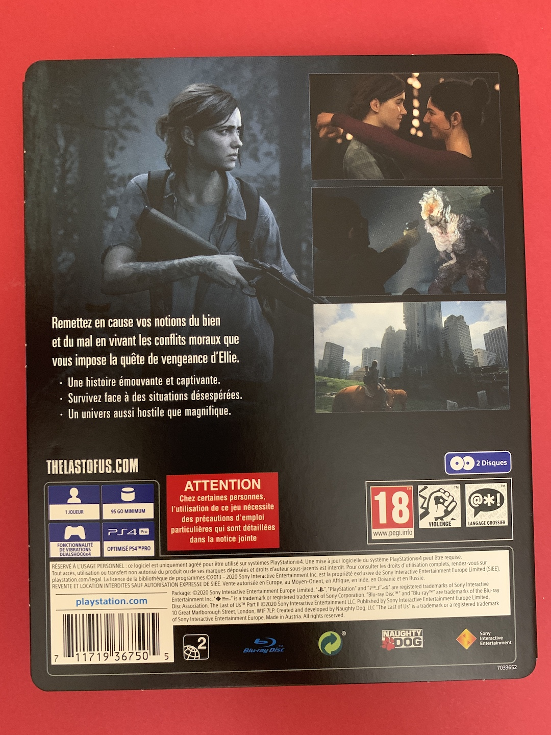 The last of us Part 2 Steelbook fourreau