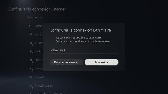 Connexion Ethernet