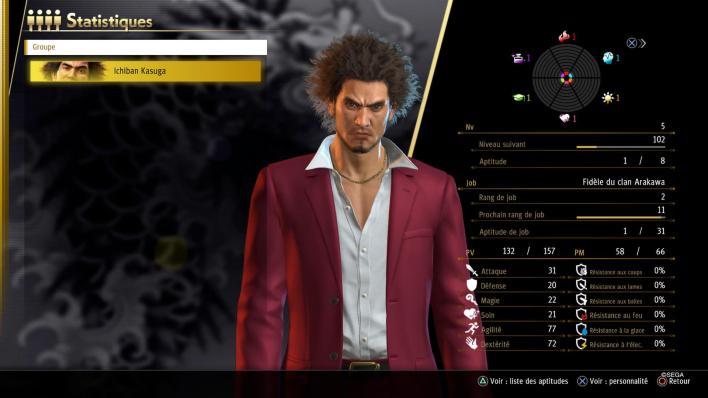 Profils - Yakuza Like a Dragon