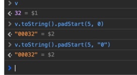 javascript padStart()
