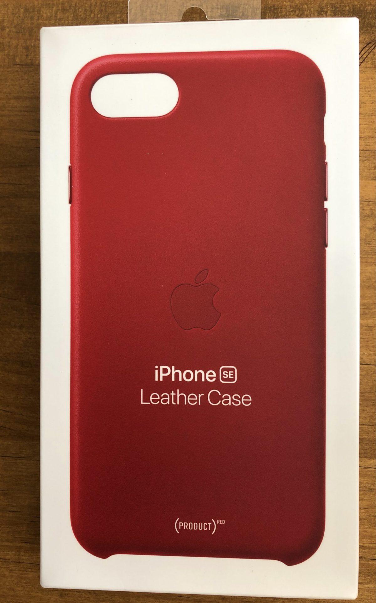 iPhone SE レザーケース PRODUCT(RED)外箱