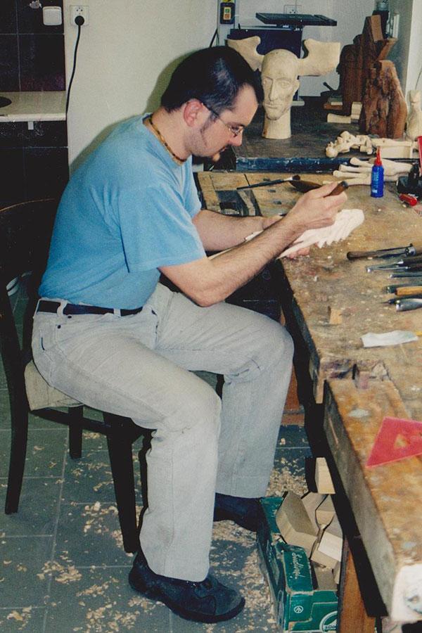 Práce v restaurátorské dílně - 1997