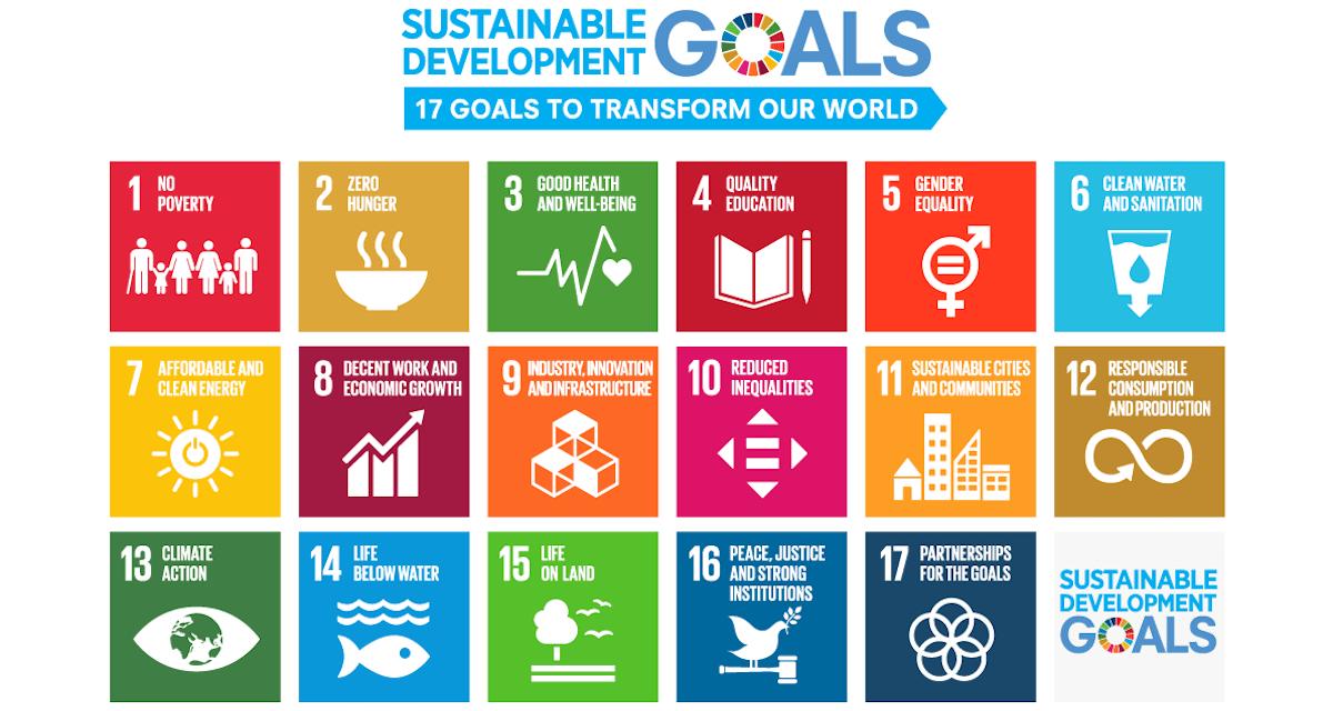 SDGs Sustainable Development GOALS 17 goals icon