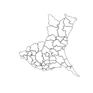 Fig. 2. City boundaries in Ibaraki