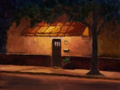 Doorway at Night, Tom Jackson, oil on panel