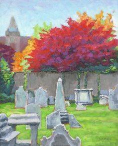 Pine Street Church, Fall; Tom Jackson; oil on panel