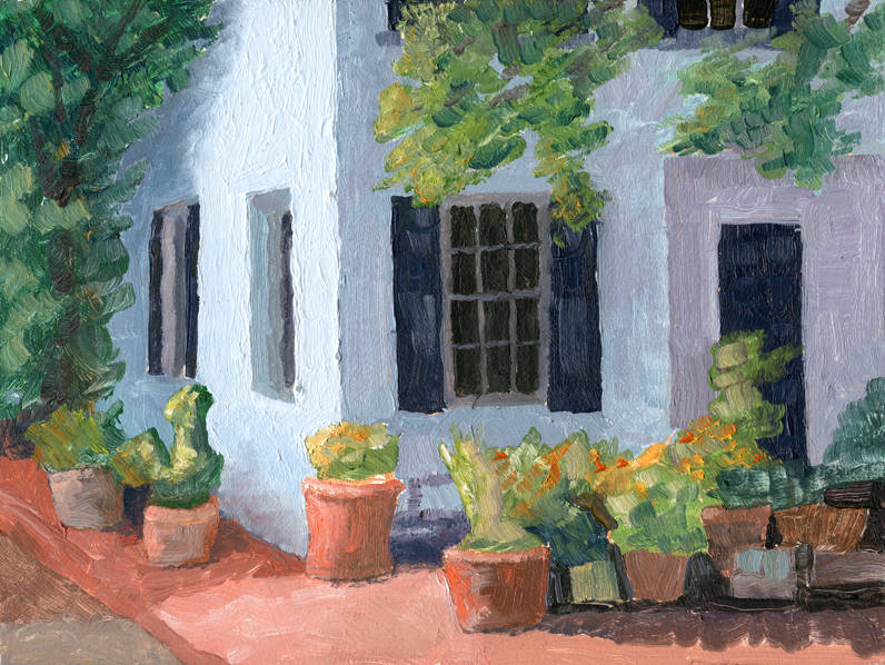 Fitler Square House, Tom Jackson, oil on panel