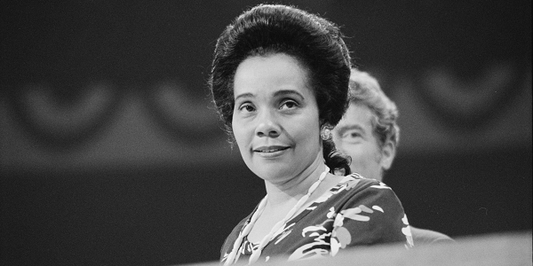 Coretta Scott King, author, activist, civil rights leader, and the wife of Martin Luther King, Jr., Honorary member