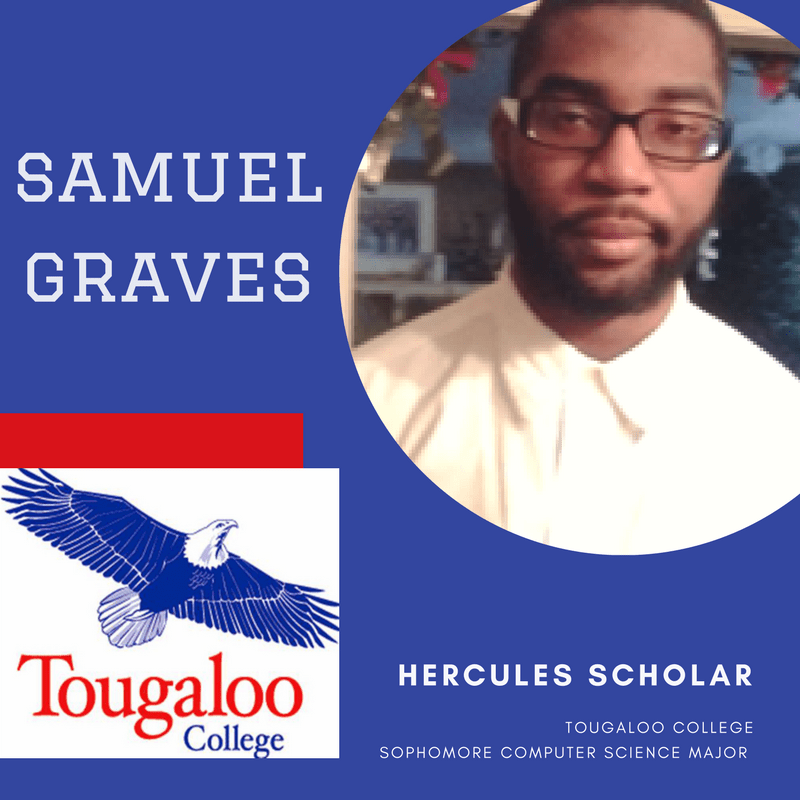 Samuel Graves for Tougaloo College is Today's Hercules Scholar