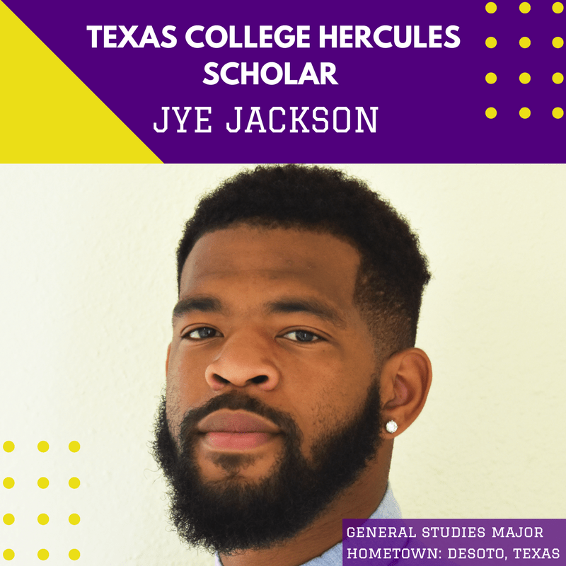 He Uses FEAR to Motivate Him. Meet Jye Jackson, Texas College Sophomore and Today's Hercules Scholar