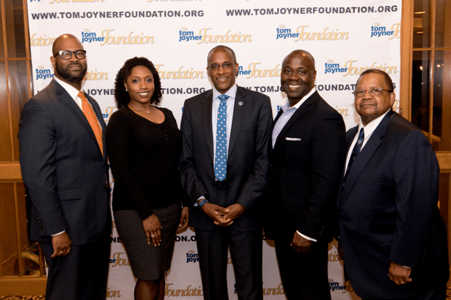 Dillard University President Dr. Walter Kimbrough (middle) and members of Dillard University Dallas-Ft. Worth Alumni Chapter. (Photo: Jesse Hornbuckle)