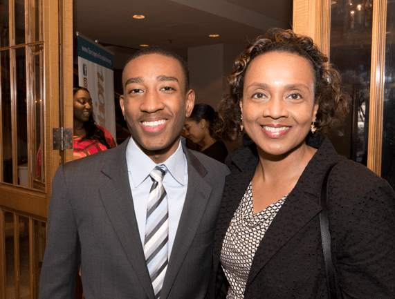 From left: Full Ride Scholarship finalist Malkam Hawkins and his mother. (Photo: Jesse Hornbuckle)