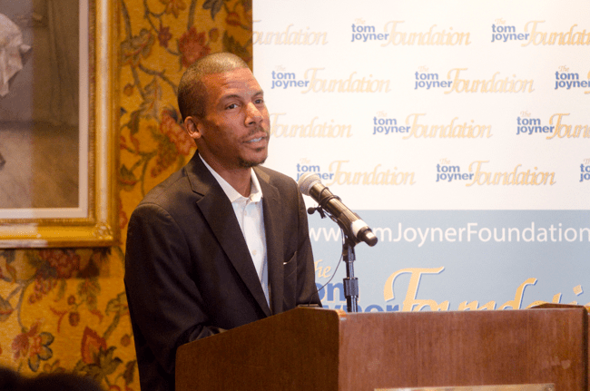 TJF President, Thomas Joyner, Jr., addresses attendees at the Full Ride Scholarship banquet. (Photo: Jesse Hornbuckle)