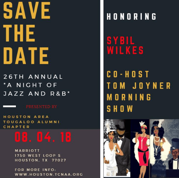 Save the Date: Tougaloo College Houston Alumni Chapter Fundraiser With Sybil Wilkes