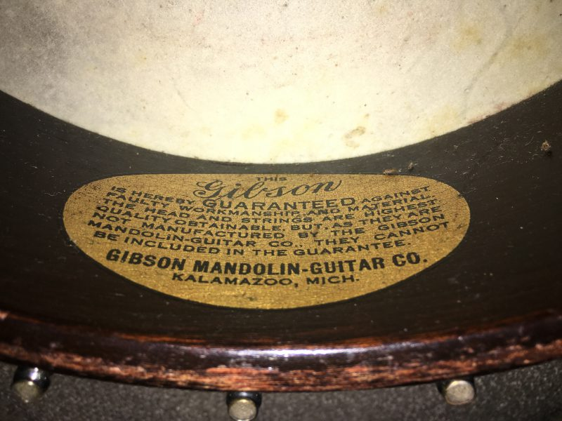 Gibson MB-1 manufacturer's label