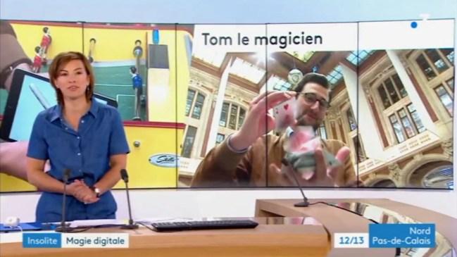 Tom Coss Magicien iPad et Mentaliste sur France 3