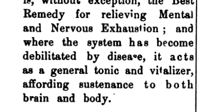 "Photo of Back When They Sold Tonics to Cure Teachers' ""Mental and Nervous Exhaustion"""